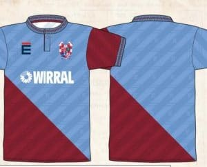 Claret and blue Retro shirt 91